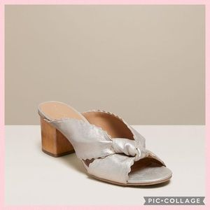 Jack Rogers Holly Suede Mule Platinum